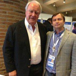 """С владельцем европейского издательства """"Квитэссенция"""" Dr. Haase на конференции в г. Мюнхен."""