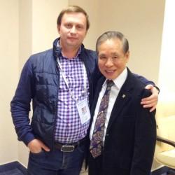 На стоматологическом конгрессе с одним из основоположников современной металлокерамики для зубных протезов, Масахиро Кувата